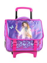 Cartable A Roulettes 2 Compartiments Violetta Violet this is me 114801