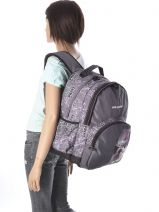 Backpack 2 Compartments Teo jasmin Beige travel TEJ22074-vue-porte