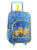 Wheeled Backpack 1 Compartment Minions Blue le buddies 9286ASF