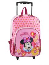 Wheeled Backpack 1 Compartment Minnie Pink happy girl 3486HAP