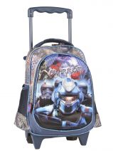 Wheeled Backpack 1 Compartment Miniprix Blue rangers T53212