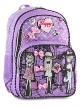 Backpack 2 Compartments Miniprix Violet girly 53517