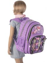 Backpack 2 Compartments Miniprix Violet girly 53517-vue-porte