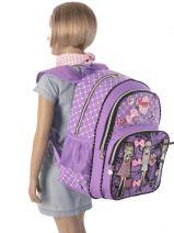 Sac à Dos 2 Compartiments Miniprix Violet girly 53517-vue-porte