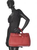Top Handle Romy Leather Mac douglas Brown romy PYLASR-vue-porte