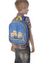 Backpack 1 Compartment Minions Blue le buddies 99247ASF-vue-porte