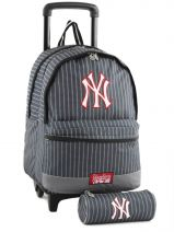 Wheeled Backpack With Free Pencil Case Mlb/new-york yankees Black couture NYX22045