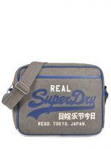 Crossbody Bag Superdry Gray alumini U91LC005