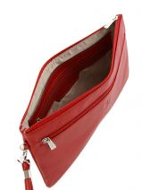 Evening Bag Leather Hexagona Red confort 467211-vue-porte