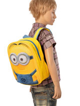 Backpack Mini Minions Yellow 3d 514-vue-porte