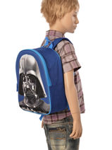 Sac à Dos Mini 1 Compartiment Star wars Bleu 3d 570-7127-vue-porte