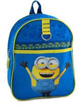 Backpack Mini Minions Blue happy 6890
