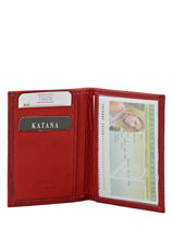 Card Holder Leather Katana Red marina - 00753090-vue-porte