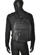 Backpack Francinel Black london city 5070-vue-porte