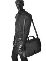 Briefcase Gerard henon Black outland 8382-vue-porte