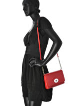 Crossbody Bag Casual Leather Coach Red casual 53083-vue-porte