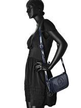Sac Bandoulière Vernice Lucida Verni Armani jeans Bleu vernice lucida 529F-RJ-vue-porte