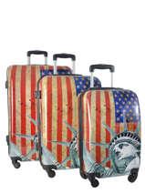 Luggage Set Print Shinny Travel Multicolor print shinny 1520-LOT