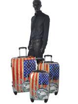 Luggage Set Print Shinny Travel Multicolor print shinny 1520-LOT-vue-porte