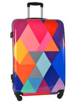 Valise Rigide Print Shinny Travel Multicolore print shinny PT1536-L