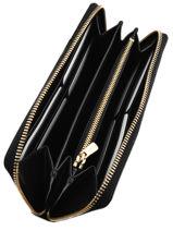 Wallet Leather Coach Black casual 53797-vue-porte