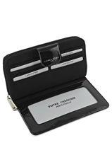 Continental Wallet Lancaster Black basic vernis 15-vue-porte