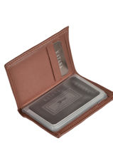Card Holder Leather Katana Brown daisy 553038-vue-porte