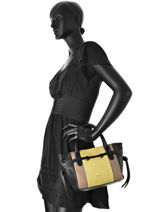 Sac Shopping Etoile Cuir Repetto Jaune etoile M0355-vue-porte