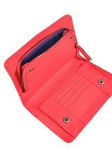 Continental Wallet Nat et nin Red vintage TALIA-vue-porte