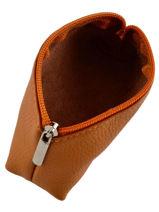 Purse Leather Milano Brown G008-vue-porte