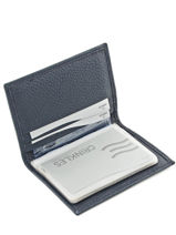Card Holder Leather Crinkles Blue caviar 14016-vue-porte