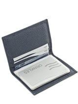 Porte-cartes Cuir Crinkles Bleu caviar 14016-vue-porte