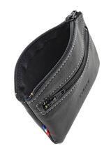Purse Leather Etrier Black caro E33204-vue-porte