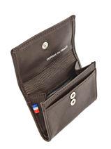 Wallet Leather Etrier Brown caro E33442-vue-porte