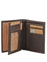 Wallet Leather Arthur et aston Brown destroy 62-800-vue-porte