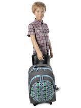 Wheeled Backpack Cameleon Blue basic BASBORR-vue-porte