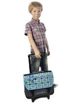Wheeled Schoolbag Cameleon Blue basic BASCA38R-vue-porte