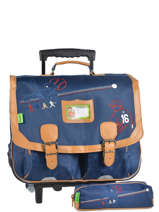 Wheeled Schoolbag With Free Pencil Case Tann