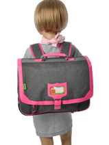 Satchel 2 Compartments With Free Pencil Case Tann