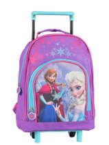 Wheeled Backpack 1 Compartment Frozen Violet christal 13421