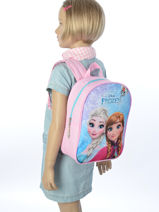 Backpack Mini Frozen Multicolor anna et elsa 13431-vue-porte