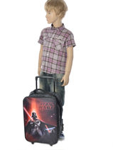 Wheeled Backpack 1 Compartment Star wars Black lazer 13804-vue-porte
