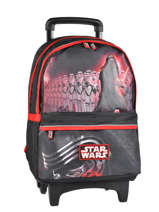 Wheeled Backpack 2 Compartments Star wars Black the force awakens STD22045
