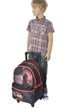 Wheeled Backpack 2 Compartments Star wars Black the force awakens STD22045-vue-porte