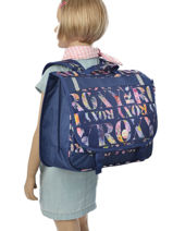 Satchel 2 Compartments With Free Pencil Case Roxy Blue kid LBP03015-vue-porte