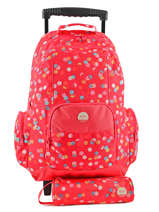 Wheeled Backpack With Free Pencil Case Roxy Red kid LBP03017