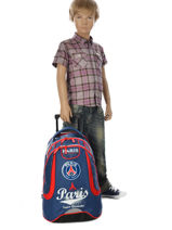 Wheeled Backpack 2 Compartments Paris st germain Multicolor paris 163P204R-vue-porte