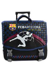 Wheeled Schoolbag 2 Compartments Fc barcelone Black 1899 163B203R