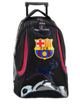 Wheeled Backpack 2 Compartments Fc barcelone Black 1899 163B204R