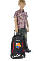 Wheeled Backpack 2 Compartments Fc barcelone Black 1899 163B204R-vue-porte